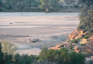 A view out over the Limpopo River - Mapungubwe National Park